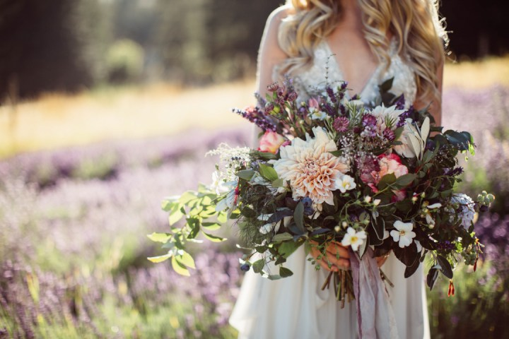 The bridal bouquet is a unique thing, filled with herbs, scents and cool blooms