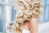 04 blonde side swept curls with a beaded hairpiece