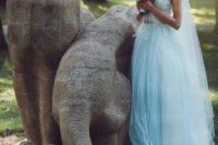 04 serenity blue wedding dress with an illusion neckline