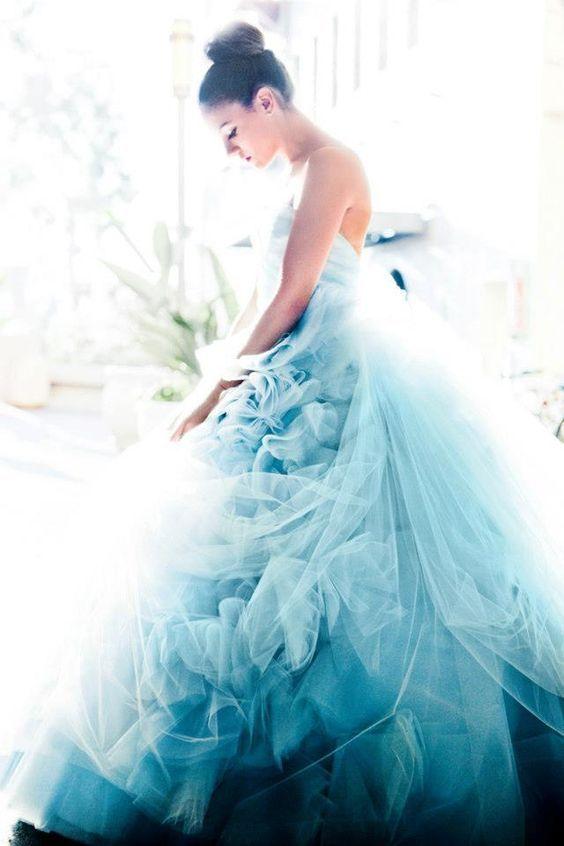 gorgeous blue ball gown