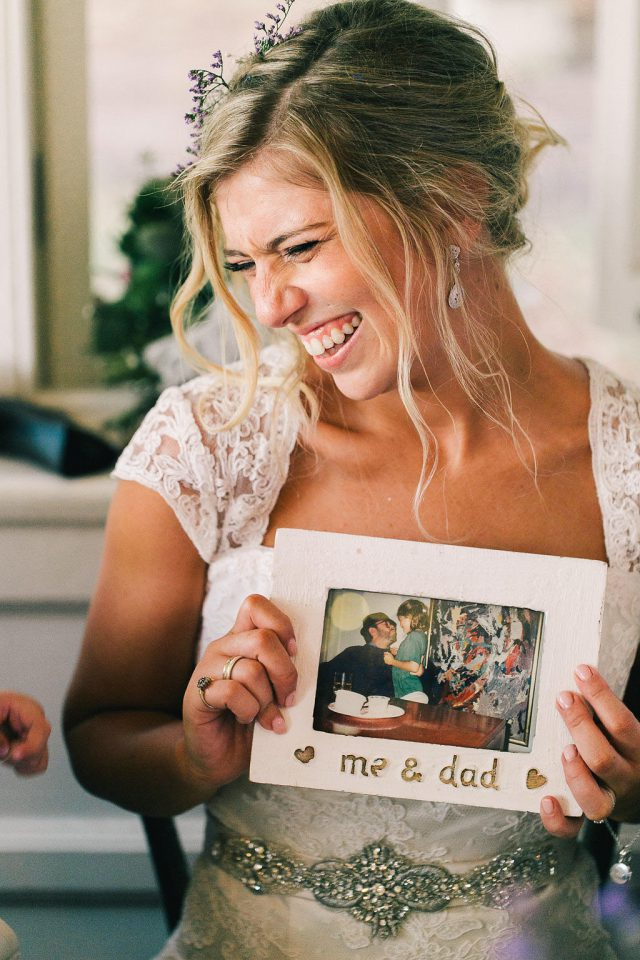 The bride included many photos of her Dad who passed away several months before the wedding