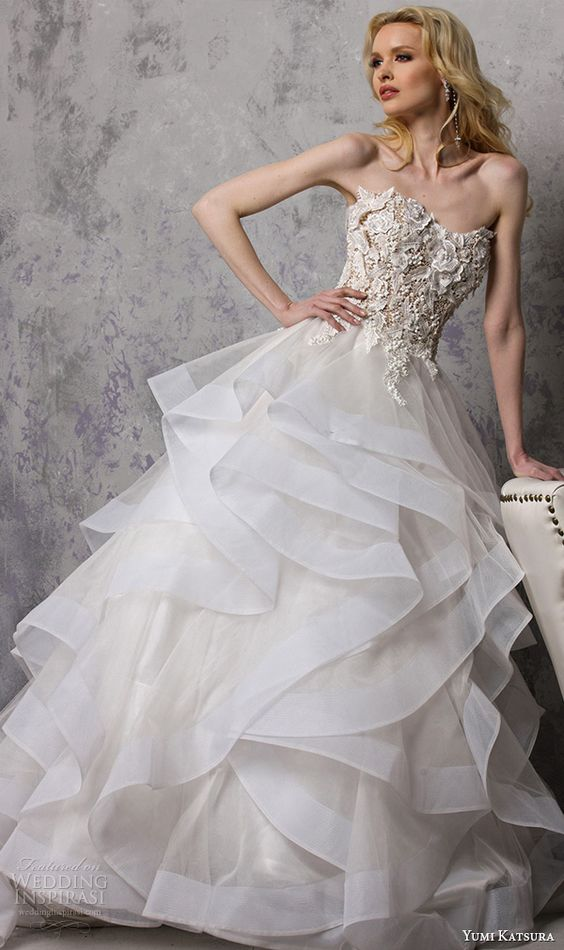 a floral bodice and layered tulle skirt