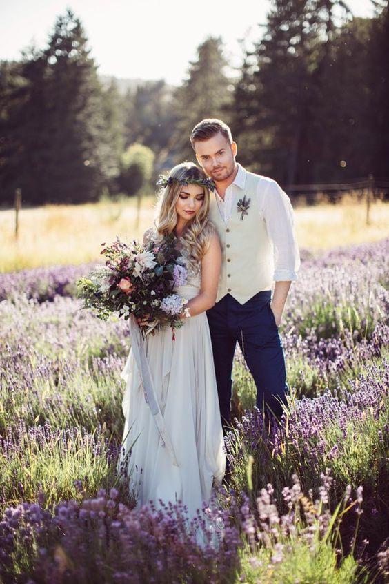 get married in a lavender field