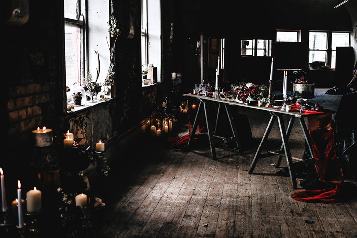 The venue was a disused dance hall, which added a haunted touch to the shoot