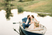 08 Of course there can't be no boat shot at a lake wedding