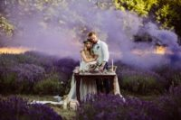 08 Purple smoke bombs were used to accentuate the setting