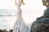 08 light blue dress reminding of the sea foam