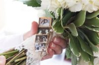 09 put photos of loved ones you've lost in a locket and then wrap it around the bouquet