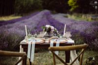 10 The setitng reminded of floral fields in Provence, though the shoot took place in Canada