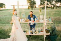 10 The wedding bar was created by Adan, it was simple, chic and boho