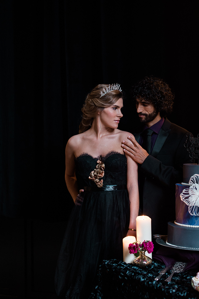 This wedding shoot is ideal for those who are looking for dark and sophisticated romance