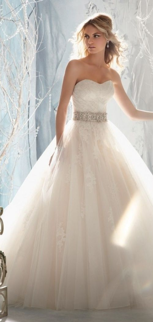 a classic A-line wedding dress is perfect for a traditional bride