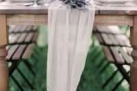 11 ethereal wwhite fabric with lavender table runner