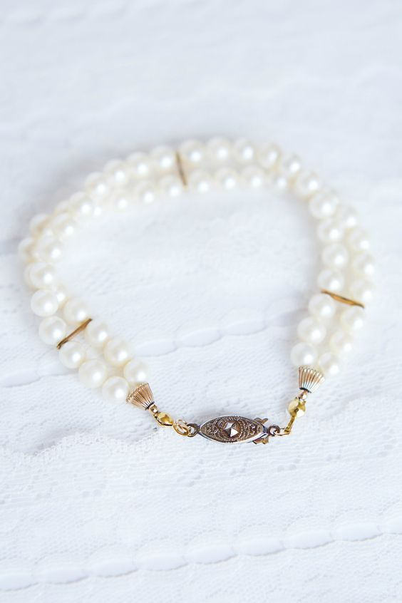 transform your mom's pearl necklace into a bracelet