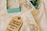 13 a wedding garter made of your mom's dress