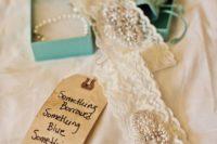 13 a wedding garter made of your mom's dress