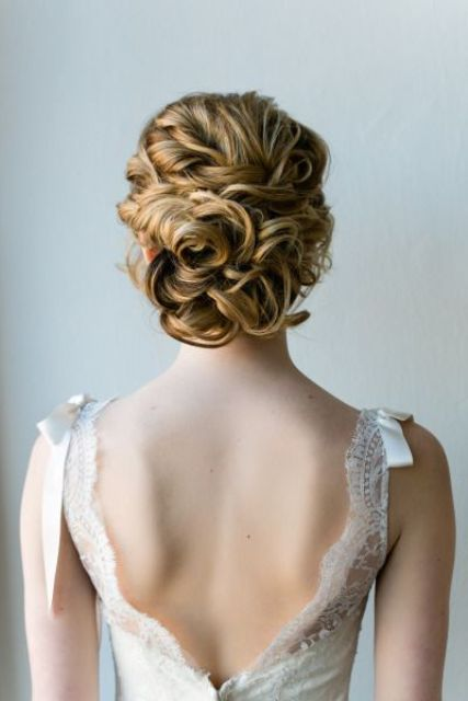 twisted and curled updo is perfect