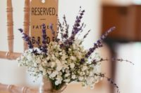 15 decorate your aisle seats with lavender