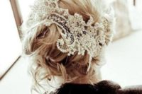 15 lace from your mother's wedding dress makes a beautiful head piece to represent your something old