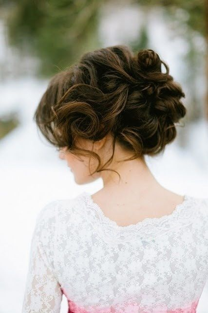 such a curled updo is amazing for any hair length