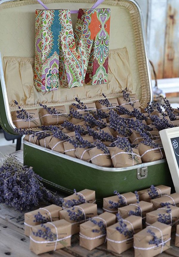 give each guest a packet of lavender seeds to watch your love grow