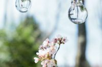 17 cherry blossom in hanging bulbs can decorate your ceremony spot or venue