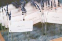 17 lavender escort card display