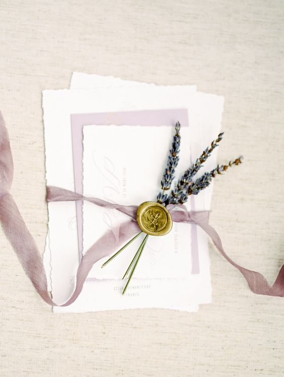 lavender for topping wedding stationery