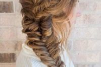 18 side swept braided top and down