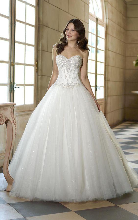 beaded corset and A-line make this dress a princess-like