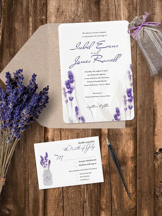 put lavender on your stationery, too