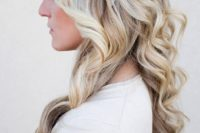 21 a chunky braid with loose curls