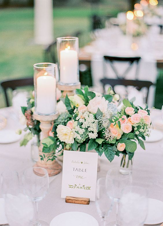 blush and peach colored flowers look timeless and elegant for garden weddings