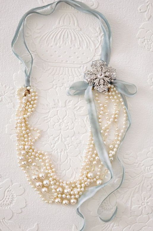 pearl statement necklace with a grandmother