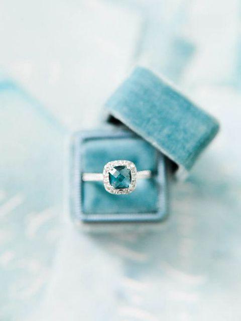 turquoise blue wedding ring