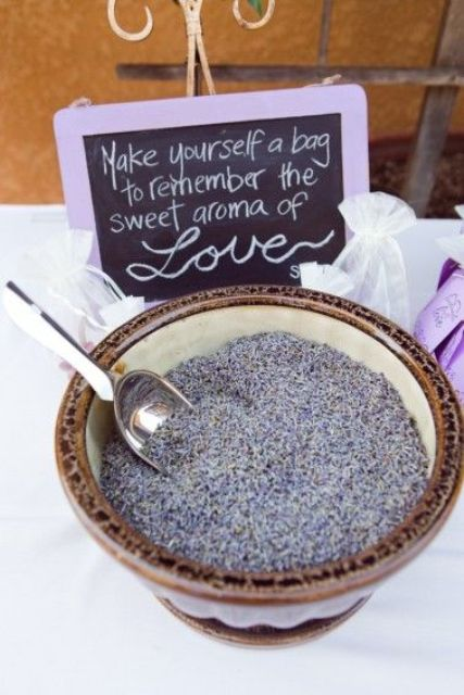 lavender to make sachets yourself is a great idea for guest favors