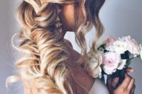 23 side swept braid with side bangs