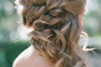 25 braided side swept medium hair with curly tips