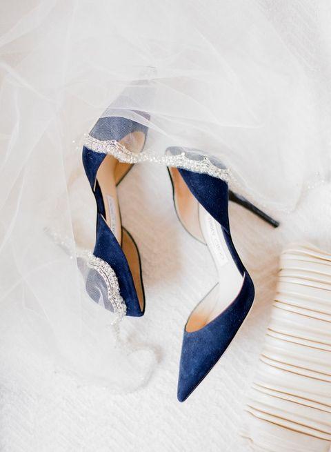 elegant suede navy heels