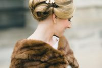 26 borrow your mom's fur wrap for your big day