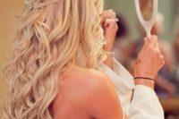 26 elegant and glam half up half doww with curls