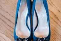26 royal blue shoes with embellishments