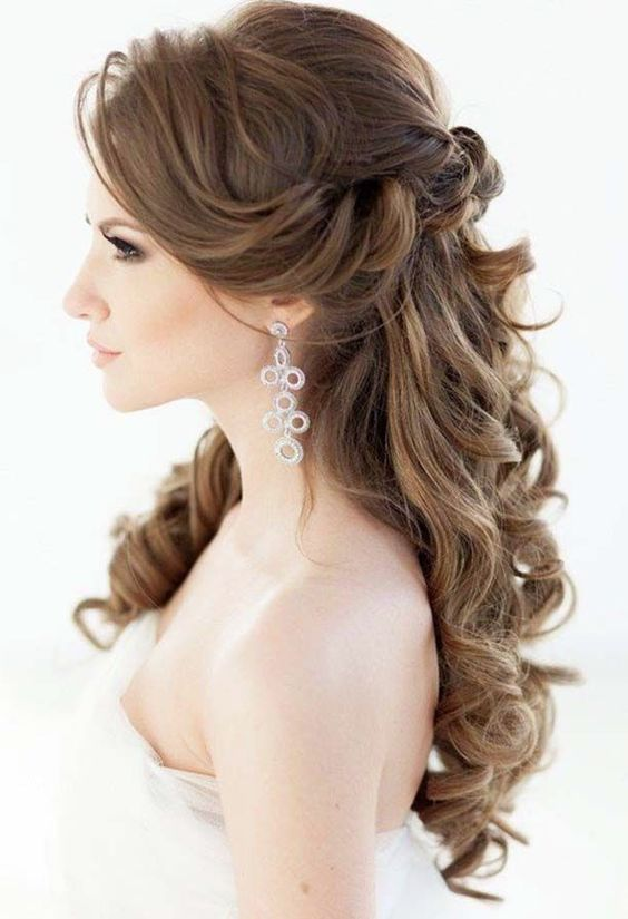 Wedding Hairstyle 60 wedding hairstyles for long hair from tonyastylist Elegant Half Up Half Down Wedding Hairstyle With Divine Curls