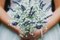 27 lavender and baby's breath look just heavenly