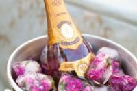 27 pink champagne and floral ice for a gals' party