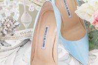 27 serenity blue heels by Manolo Blahnik