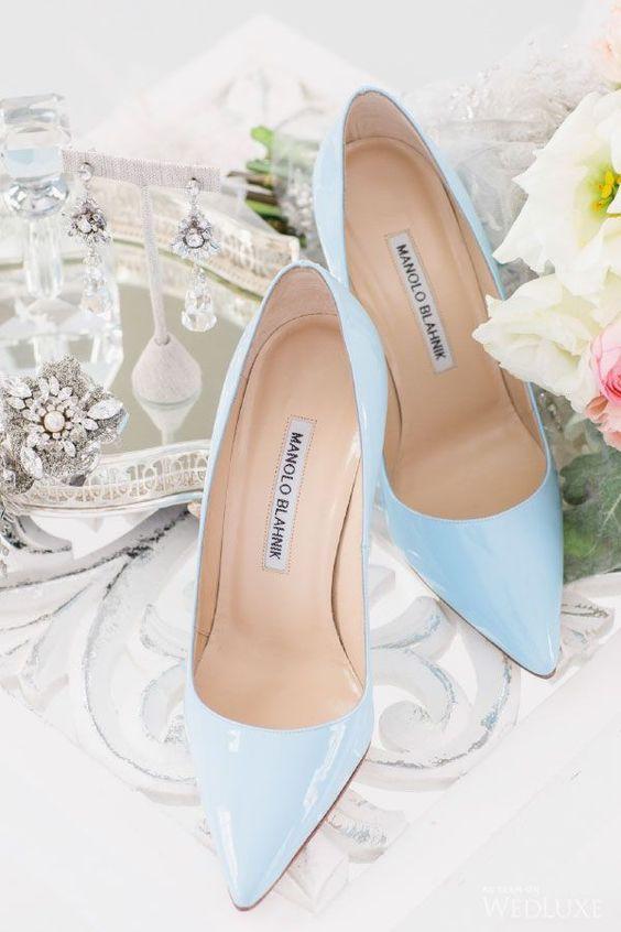 serenity blue heels by Manolo Blahnik