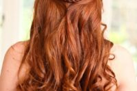29 half up half down copper hair with curls