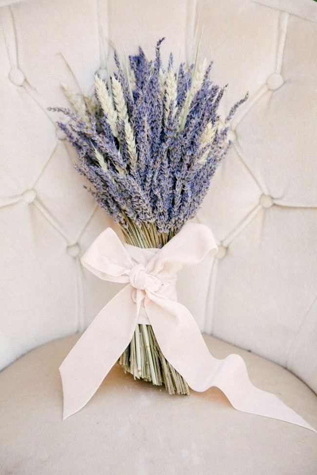 lavender is ideal for one-flower bouquets