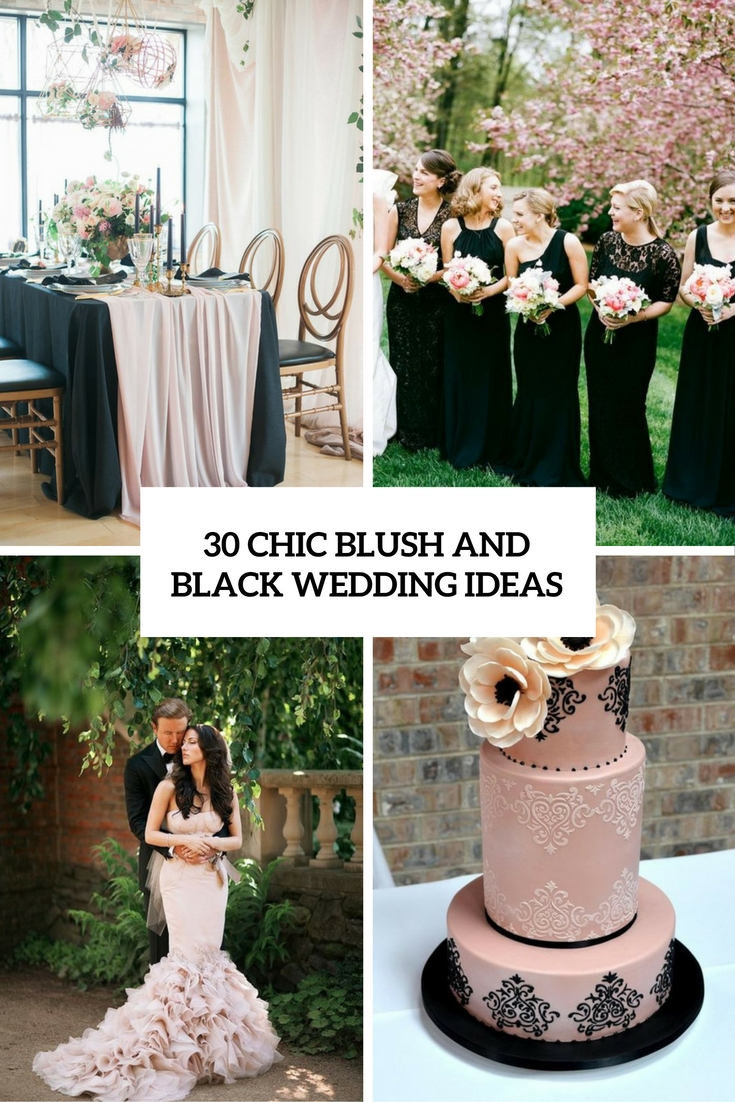 chic blush and black wedding ideas cover